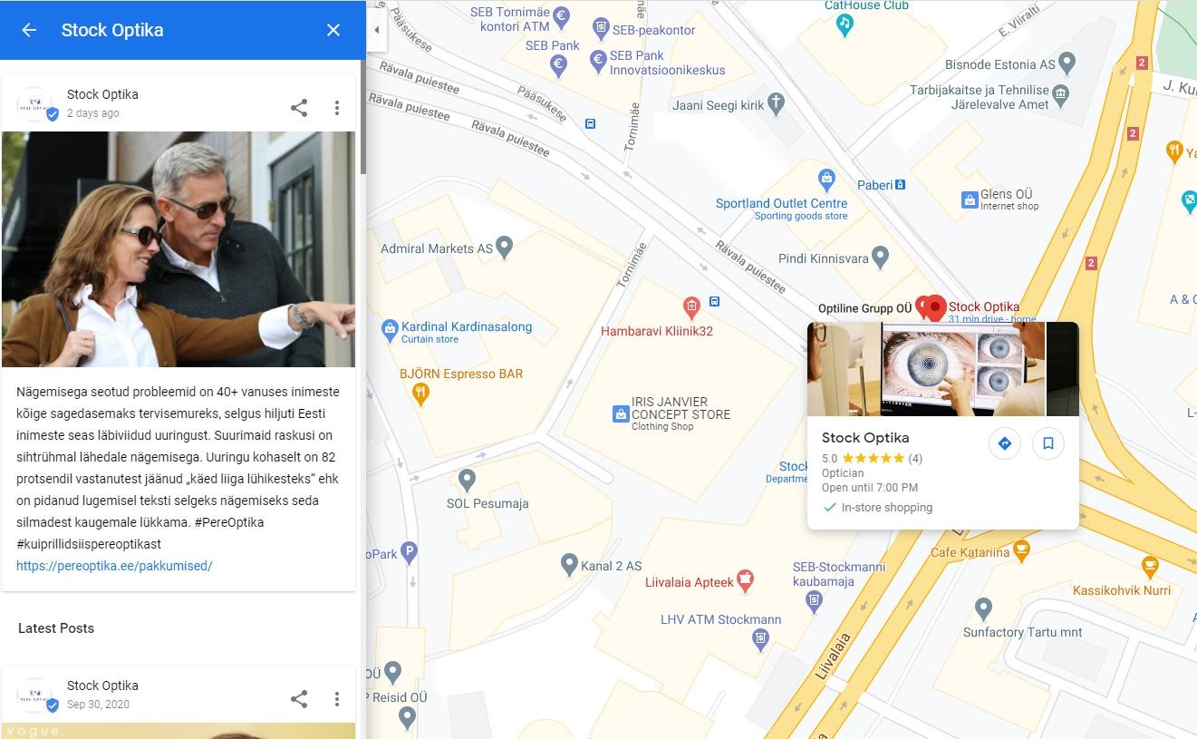 korras Google kaardikonto