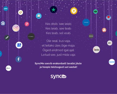 syncme jõulukaart