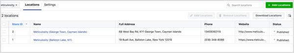 Facebooki asukohalehed